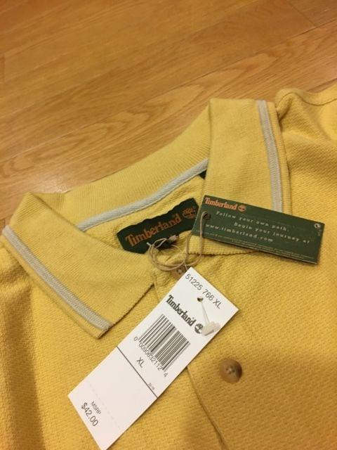 Timberland  ティンバーランド  ポロシャツ  sizeXL→XXL 辛子 < 男性ファッションの