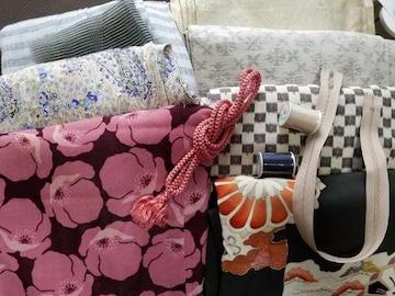 アンティーク☆着物&昭和レトロ衣料まとめ売り♪リメイク用布♪