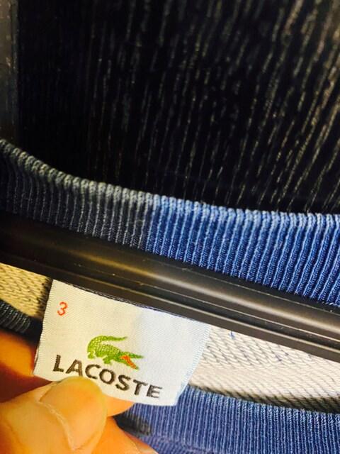 美品ラコステ LACOSTEスエット3トレーナー長袖ロゴわにマーク48S < ブランドの