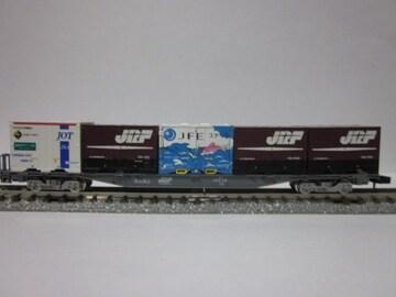 コンテナ搭載貨車-11 コキ107にJOT・JR・JFEイルカコンテナ搭載