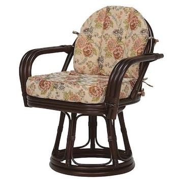 回転座椅子(ダークブラウン) RZ-934DBR