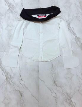 オフショルダー白シャツSサイズ美品