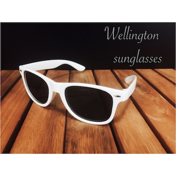サングラス ミラー ウェリトン型 ミラーレンズ UV400 白