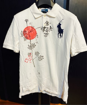 POLOポロLラルフローレンboysポロシャツ半袖ホワイト和柄レア