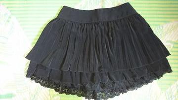 セシルマクビー★黒プリーツスカート