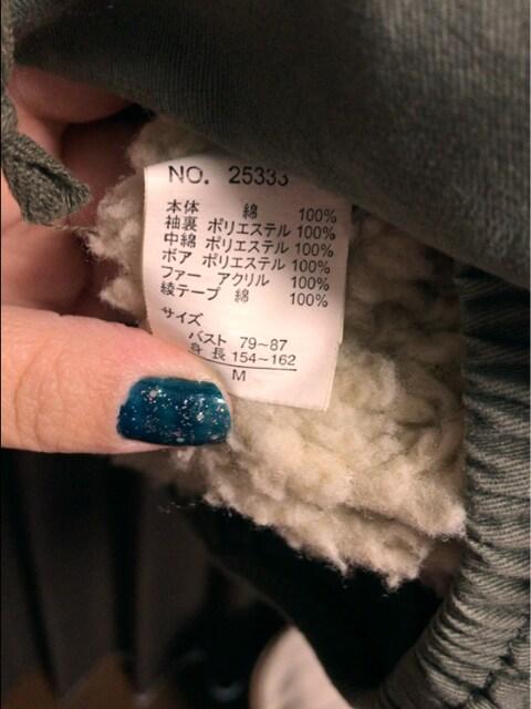 ファーゴージャス後ろプリントかっこいいモッズミリタリーコート < 女性ファッションの