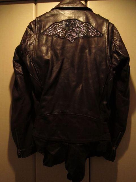 フランシストモークス ハイビスカルスワロレザーライダースジャケット  < 男性ファッションの