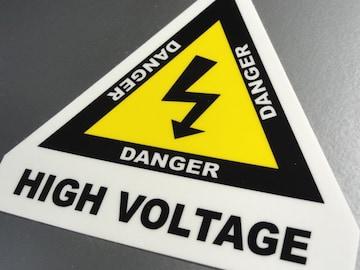 ▲高電圧注意!HIGH VOLTAGEステッカー▲F1 KERS プリウス