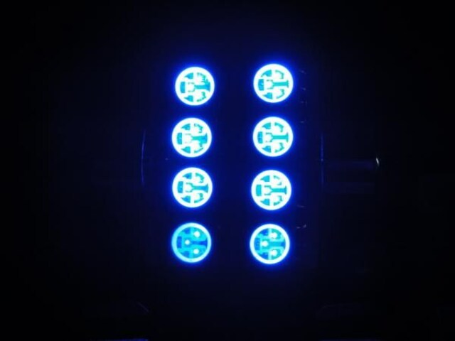 T10x36mm青 SMD8連LED ルームランプカーテシ < 自動車/バイク