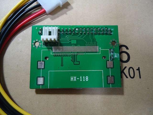 ジャンク CFカードアダプター+電源ケーブル+CF 1GB(中古) < PC本体/周辺機器の
