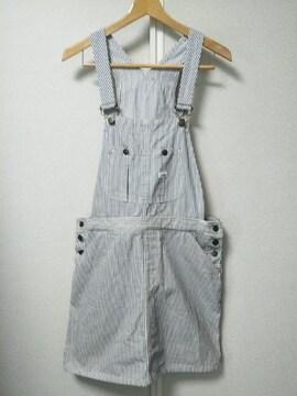 ◆Lee◇ヒッコリーデニムサロペットスカート◆