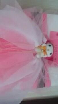 24・0 送込〓浴衣リボン飾り〓ホワイト×薄いピンク