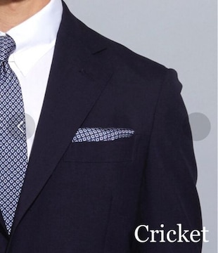 イタリア製シルク100% ポケットチーフ【新品タグ付き】Cricket
