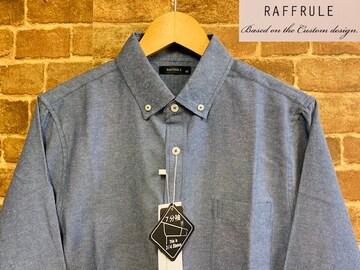 表記XL/新品!7分袖 BD ボタンダウンシャツ 無地 アメカジ サーフ 西海岸スタイル