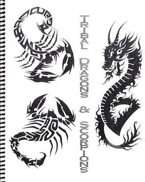 刺青 参考本 TRIBAL DRAGONS & SCORPIONS 【タトゥー】