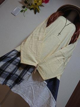 ★新品タグ8L★異素材切り替えチュニ¥6589