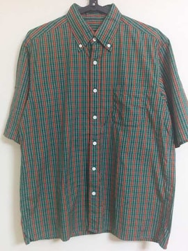 SOPHNET. チェックシャツ Check SHIRT 緑×赤 ZOZOTOWN L