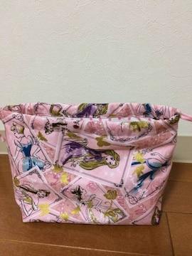 ディズニープリンセスピンク・お弁当袋・ハンドメイド