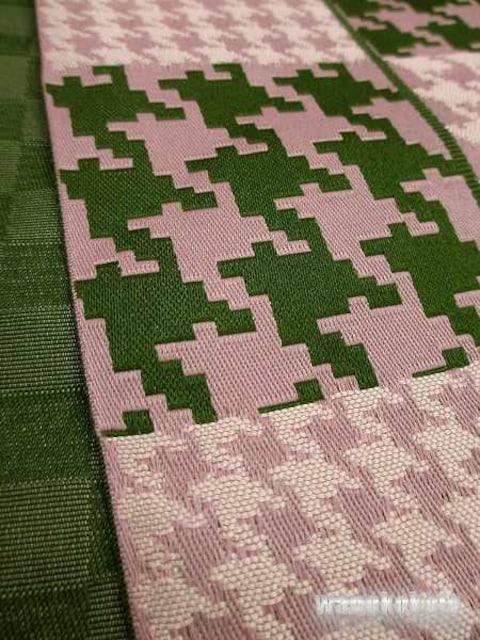 【和の志】カジュアルな装いに◇半幅帯◇緑系・千鳥格子H-106 < 女性ファッションの