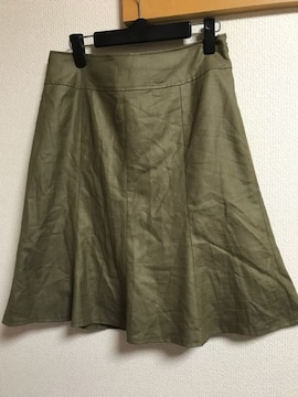 ★カーキ×フレアスカート  W70★