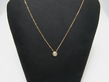 18金イエローゴールドフィルド シンプル ダイヤ ネックレス