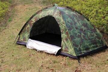 テント 一人用 コンパクト 迷彩柄