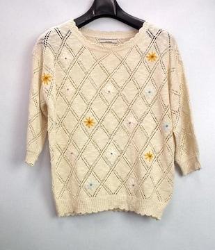オリーブデオリーブ ニット かぎ編み フラワー サマーニッ