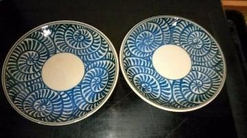 蛸‖唐‖草‖紋様‖小皿2枚→窯印