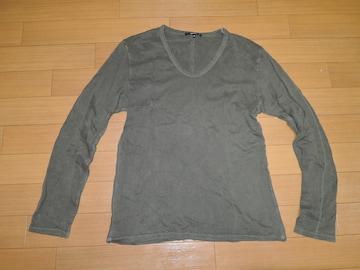 シェラックSHELLACカットソー48U字ロンTシャツ製品染め加工