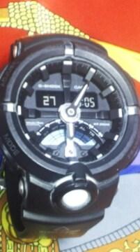 CASIOGショック腕時計GA-500ビックケース反転液晶デジタル+アナログ針