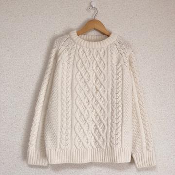 ジーユー 可愛いアランニット セーター♪