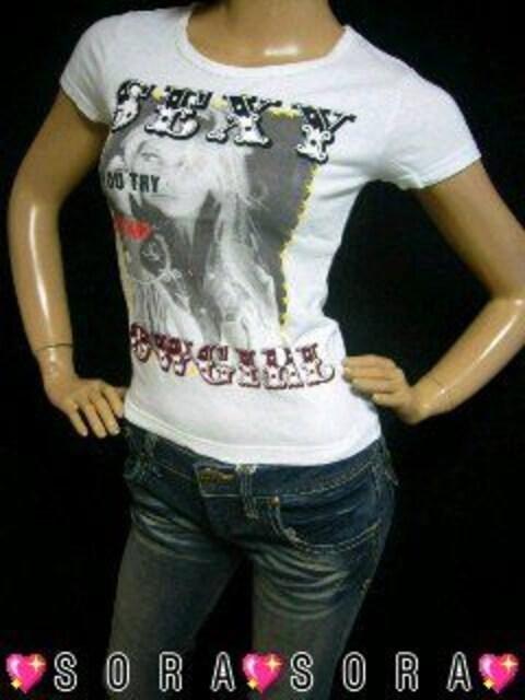 【Ra Iride/イリーデ】Sexyガール.バックカウガールプリントTシャツ  < ブランドの