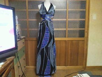 キャバホルター セクシーロングドレス