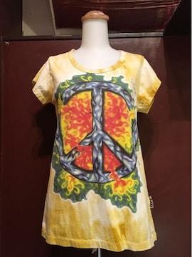 タイダイピースマークTシャツ★アジアン★サイケ★ヒッピー★
