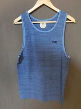 USA購入バンズ【VANS】シンプル胸ロゴ刺繍 タンクトップUS S