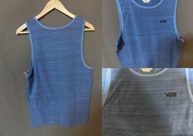 USA購入バンズ【VANS】シンプル胸ロゴ刺繍 タンクトップUS S < 男性ファッションの