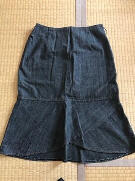 マーメイドスカート ブラックデニム 64