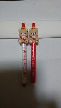 ナムコ×King&Prince クラウンベアボールペン 深紅…平野君カラー2種set