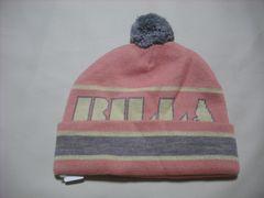 wb122 女 BILLABONG ビラボン ボンボン付き ニット帽 ピンク