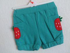 イチゴショートパンツ100緑