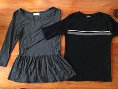 ザラZARA 灰色ブラウス+100他〓色ニツト半袖