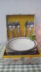 *セーエー陶器/SEIEI CHINA カレー皿�D&スプーン�D*