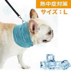 ペット用 クールバンダナ 熱中症対策 犬用 冷却 L 1/BY8
