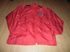【新品タグ付】MLBボストンレッドソックス150�pナイロンジャンパー赤裏地付