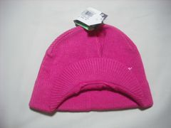 wb150 女 BILLABONG ビラボン つば付き ニット帽 ピンク