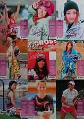 BBM.2009.リアルヴィーナス ピンク箔サインカード7枚   /25   +オマケ2枚(ホロ.金)