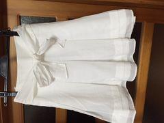 美品 ジャイロホワイト 白 スカート お嬢様 リボン