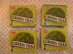 新品・未使用☆GREEN TEA (緑茶)の香り お香☆コーンタイプ♪