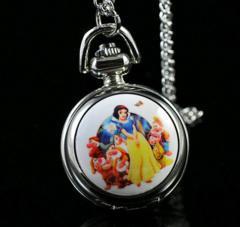 ★かわいい白雪姫ネックレスポケットウオッチ