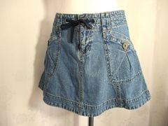 【DKNY JEANS】ブルーデニムのミニスカート